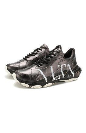 Кожаные кроссовки Valentino Garavani Bounce | Фото №1