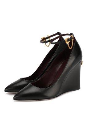 Женская кожаные туфли valentino garavani ringstud VALENTINO черного цвета, арт. SW0S0S36/FVI   Фото 1
