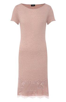 Женские платье из смеси шерсти и вискозы DANA PISARRA розового цвета, арт. SENS/LC2052 | Фото 1