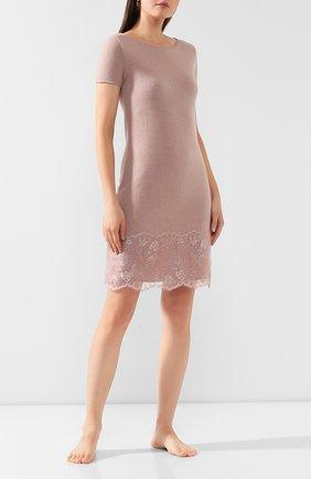 Женские платье из смеси шерсти и вискозы DANA PISARRA розового цвета, арт. SENS/LC2052 | Фото 2