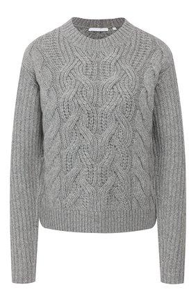 Женская шерстяной свитер HELMUT LANG серого цвета, арт. J07HW707 | Фото 1