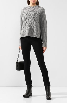 Женская шерстяной свитер HELMUT LANG серого цвета, арт. J07HW707 | Фото 2