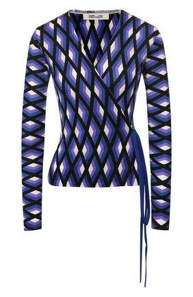 Женский шерстяной кардиган DIANE VON FURSTENBERG разноцветного цвета, арт. 13331DVF | Фото 1