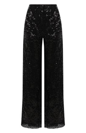 Женские брюки с пайетками IN THE MOOD FOR LOVE черного цвета, арт. RIVER PANTS | Фото 1