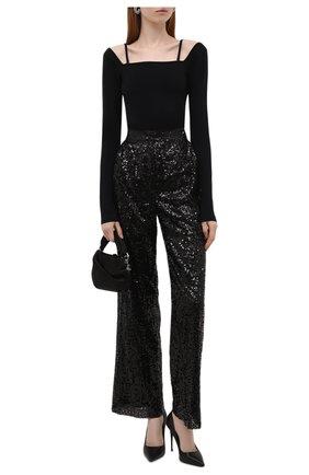 Женские брюки с пайетками IN THE MOOD FOR LOVE черного цвета, арт. RIVER PANTS | Фото 2