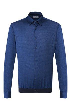 Мужская хлопковая рубашка ZILLI темно-синего цвета, арт. MFS-MERCU-56053/RJ01 | Фото 1