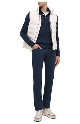 Мужской кашемировый свитер ANDREA CAMPAGNA синего цвета, арт. 23151/15572 | Фото 2