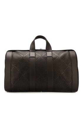 Мужская кожаная дорожная сумка BOTTEGA VENETA темно-коричневого цвета, арт. 577342/VMAV0 | Фото 1