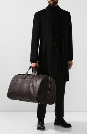 Мужская кожаная дорожная сумка BOTTEGA VENETA темно-коричневого цвета, арт. 577342/VMAV0 | Фото 2