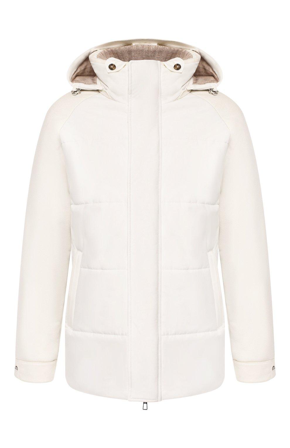 Мужская утепленная куртка LORO PIANA белого цвета, арт. FAI8401   Фото 1
