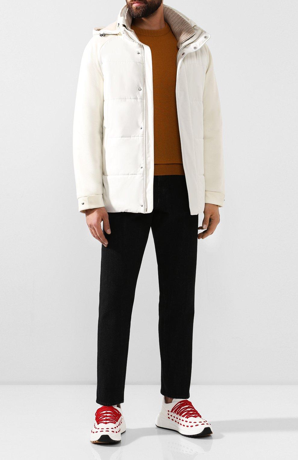 Мужская утепленная куртка LORO PIANA белого цвета, арт. FAI8401   Фото 2