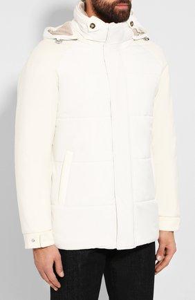 Мужская утепленная куртка LORO PIANA белого цвета, арт. FAI8401   Фото 3
