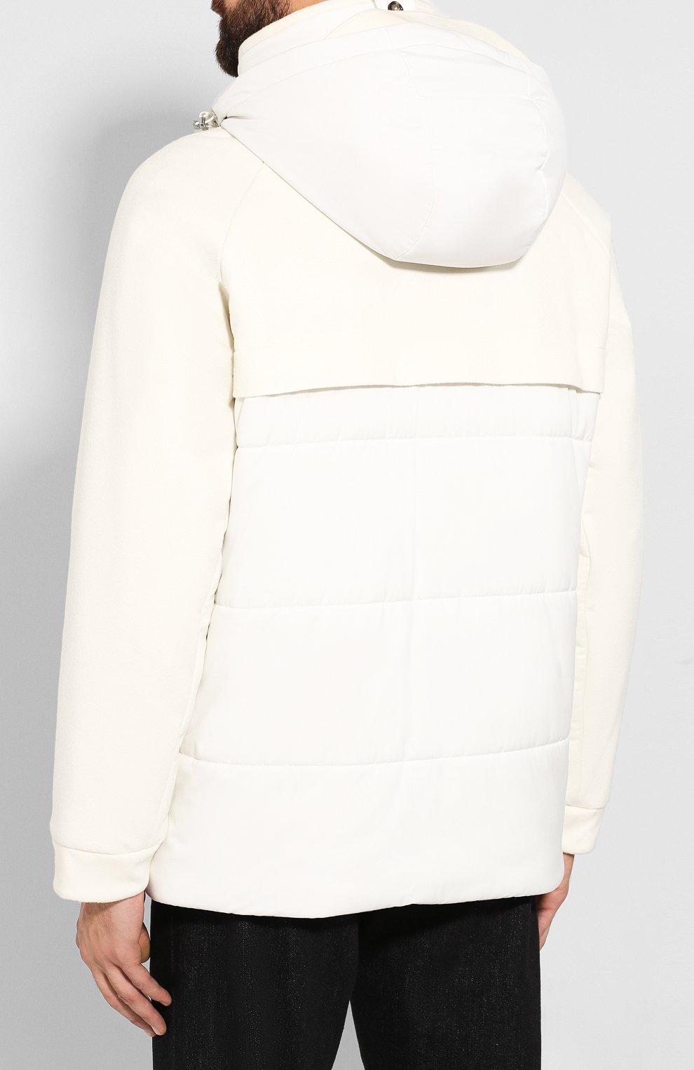 Мужская утепленная куртка LORO PIANA белого цвета, арт. FAI8401   Фото 4