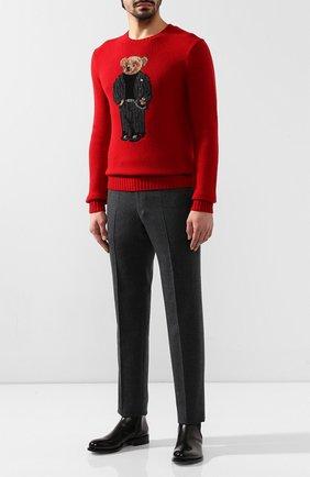 Мужской шерстяной свитер POLO RALPH LAUREN красного цвета, арт. 710766112 | Фото 2
