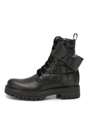 Детские кожаные ботинки SIMONETTA черного цвета, арт. SITR0008/S0FTY/35-40 | Фото 2