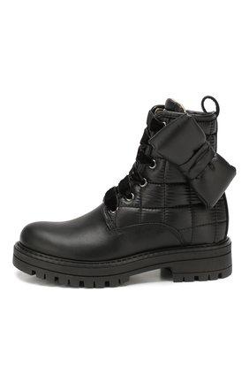 Детские кожаные ботинки SIMONETTA черного цвета, арт. SITR0008/S0FTY/28-34 | Фото 2