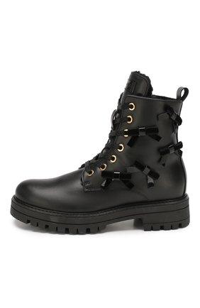 Детские кожаные ботинки SIMONETTA черного цвета, арт. SITR0006/MEND0ZA/35-40 | Фото 2