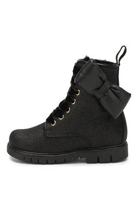 Детские кожаные ботинки SIMONETTA черного цвета, арт. SI4TR003/CHIANTI/23-27 | Фото 2