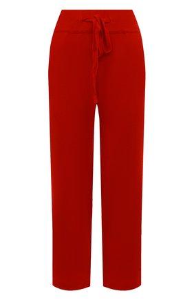 Женские брюки из смеси шерсти и кашемира ADDICTED красного цвета, арт. MK916   Фото 1