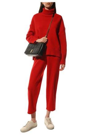 Женские брюки из смеси шерсти и кашемира ADDICTED красного цвета, арт. MK916   Фото 2