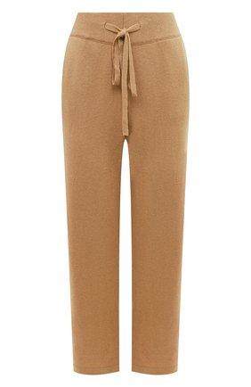 Женские брюки из смеси шерсти и кашемира ADDICTED бежевого цвета, арт. MK916 | Фото 1