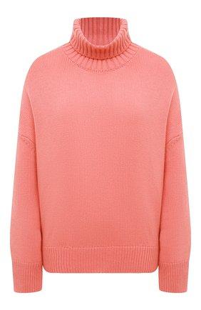 Женский свитер из смеси шерсти и кашемира ADDICTED розового цвета, арт. MK840 | Фото 1