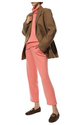 Женский свитер из смеси шерсти и кашемира ADDICTED розового цвета, арт. MK840 | Фото 2