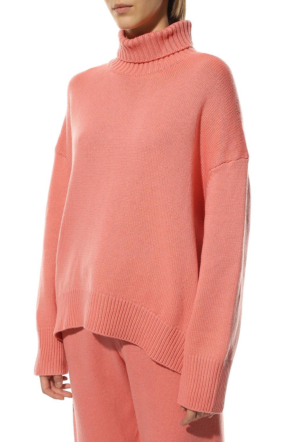 Женский свитер из смеси шерсти и кашемира ADDICTED розового цвета, арт. MK840 | Фото 3 (Женское Кросс-КТ: Свитер-одежда; Материал внешний: Шерсть; Рукава: Длинные; Длина (для топов): Стандартные; Статус проверки: Проверена категория)