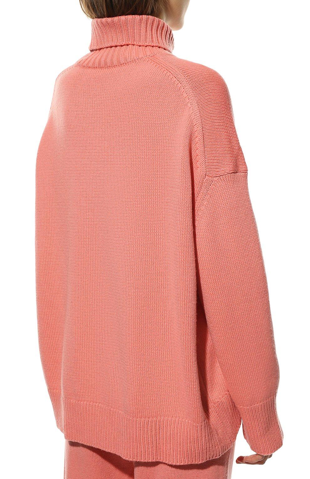 Женский свитер из смеси шерсти и кашемира ADDICTED розового цвета, арт. MK840 | Фото 4 (Женское Кросс-КТ: Свитер-одежда; Материал внешний: Шерсть; Рукава: Длинные; Длина (для топов): Стандартные; Статус проверки: Проверена категория)