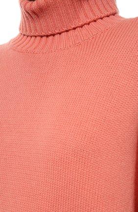 Женский свитер из смеси шерсти и кашемира ADDICTED розового цвета, арт. MK840 | Фото 5 (Женское Кросс-КТ: Свитер-одежда; Материал внешний: Шерсть; Рукава: Длинные; Длина (для топов): Стандартные; Статус проверки: Проверена категория)
