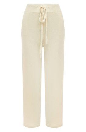Женские брюки из смеси шерсти и кашемира ADDICTED белого цвета, арт. MK916 | Фото 1