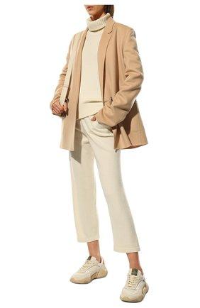 Женские брюки из смеси шерсти и кашемира ADDICTED белого цвета, арт. MK916 | Фото 2