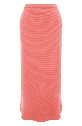 Женская кашемировая юбка ADDICTED розового цвета, арт. MK922 | Фото 1