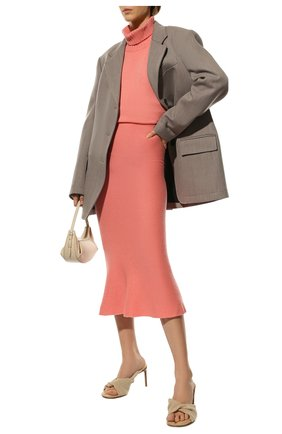Женская кашемировая юбка ADDICTED розового цвета, арт. MK922 | Фото 2