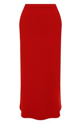 Женская кашемировая юбка ADDICTED красного цвета, арт. MK922 | Фото 1