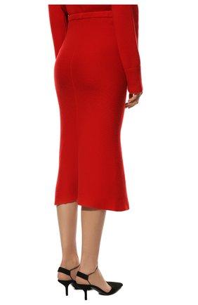 Женская кашемировая юбка ADDICTED красного цвета, арт. MK922   Фото 4 (Материал внешний: Шерсть; Кросс-КТ: Трикотаж; Длина Ж (юбки, платья, шорты): Миди; Статус проверки: Проверено)