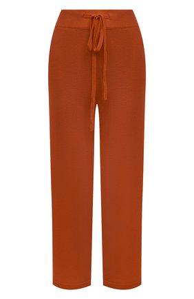 Женские брюки из смеси шерсти и кашемира ADDICTED оранжевого цвета, арт. MK916 | Фото 1