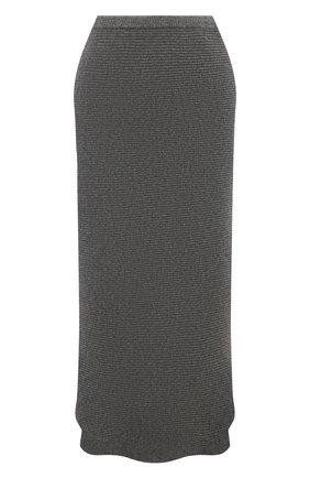 Женская кашемировая юбка ADDICTED серого цвета, арт. MK922 | Фото 1