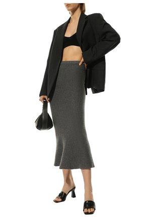 Женская кашемировая юбка ADDICTED серого цвета, арт. MK922 | Фото 2