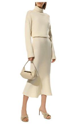 Женская кашемировая юбка ADDICTED белого цвета, арт. MK922 | Фото 2