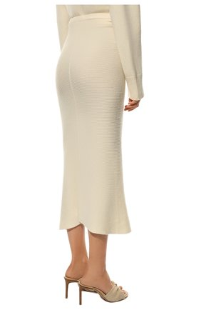 Женская кашемировая юбка ADDICTED белого цвета, арт. MK922   Фото 4 (Материал внешний: Шерсть; Кросс-КТ: Трикотаж; Длина Ж (юбки, платья, шорты): Миди; Статус проверки: Проверено)