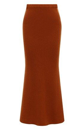 Женская кашемировая юбка ADDICTED оранжевого цвета, арт. MK922 | Фото 1