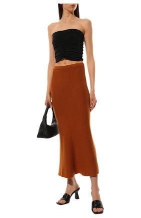 Женская кашемировая юбка ADDICTED оранжевого цвета, арт. MK922 | Фото 2