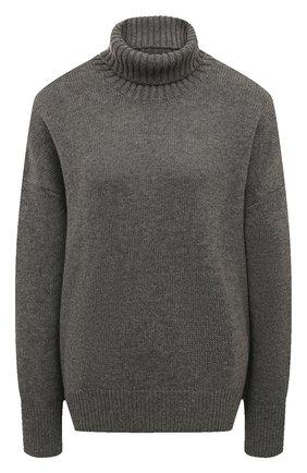 Женский свитер из смеси шерсти и кашемира ADDICTED серого цвета, арт. MK840 | Фото 1