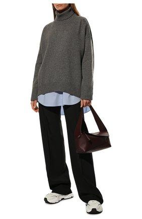 Женский свитер из смеси шерсти и кашемира ADDICTED серого цвета, арт. MK840 | Фото 2