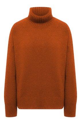 Женский свитер из смеси шерсти и кашемира ADDICTED оранжевого цвета, арт. MK840 | Фото 1