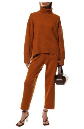 Женский свитер из смеси шерсти и кашемира ADDICTED оранжевого цвета, арт. MK840 | Фото 2