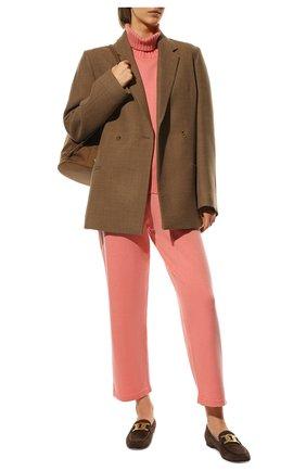 Женские брюки из смеси шерсти и кашемира ADDICTED розового цвета, арт. MK916 | Фото 2