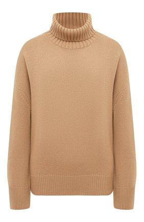 Женский свитер из смеси шерсти и кашемира ADDICTED бежевого цвета, арт. MK840   Фото 1