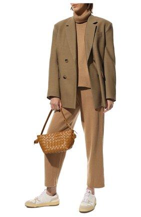 Женский свитер из смеси шерсти и кашемира ADDICTED бежевого цвета, арт. MK840   Фото 2
